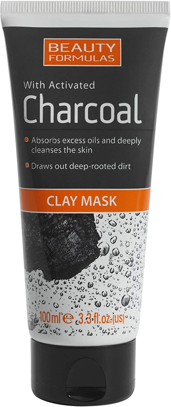 Beauty Formulas With Activated Charcoal Clay Mask 100 millitres
