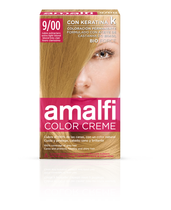 Hair colouring cream 9/00 extra light blond color creme